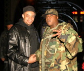Kool DJ Red Alert and Jadakiss during Ja Rule Video Shoot New York October 12 2004 at 135th 12th Avenue in New York City New York United States