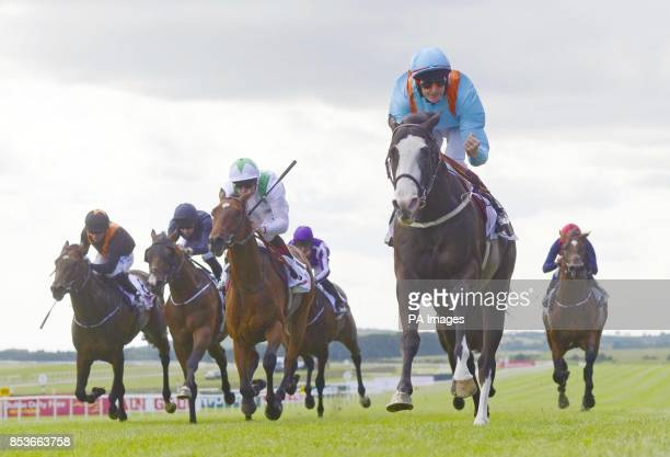Kool Kompany ridden by Fran Berry wins GAIN Railway Stakes during day two the Dubai Duty Free Irish Derby Festival at Curragh Racecourse Co Kildare...