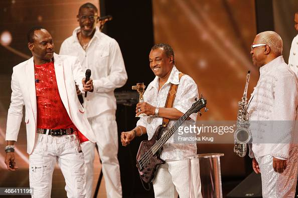 Kool the Gang attend the Goldene Kamera 2014 at Tempelhof Airport on February 01 2014 in Berlin Germany