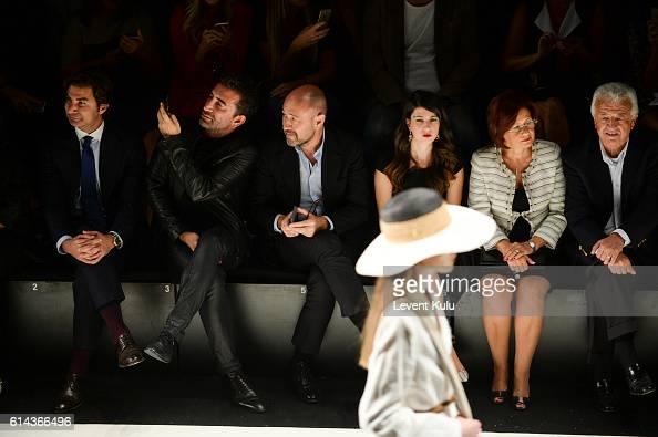 Koray Bilici Nihat Odabasi and Sinan Oncel attend the Atil Kutoglu runway show during MercedesBenz Fashion Week Istanbul at Zorlu Center on October...