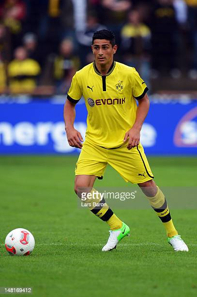 Koray Guenter of Dortmund runs with the ball during a friendly match between SV Meppen and Borussia Dortmund at MEPArena on July 11 2012 in Meppen...