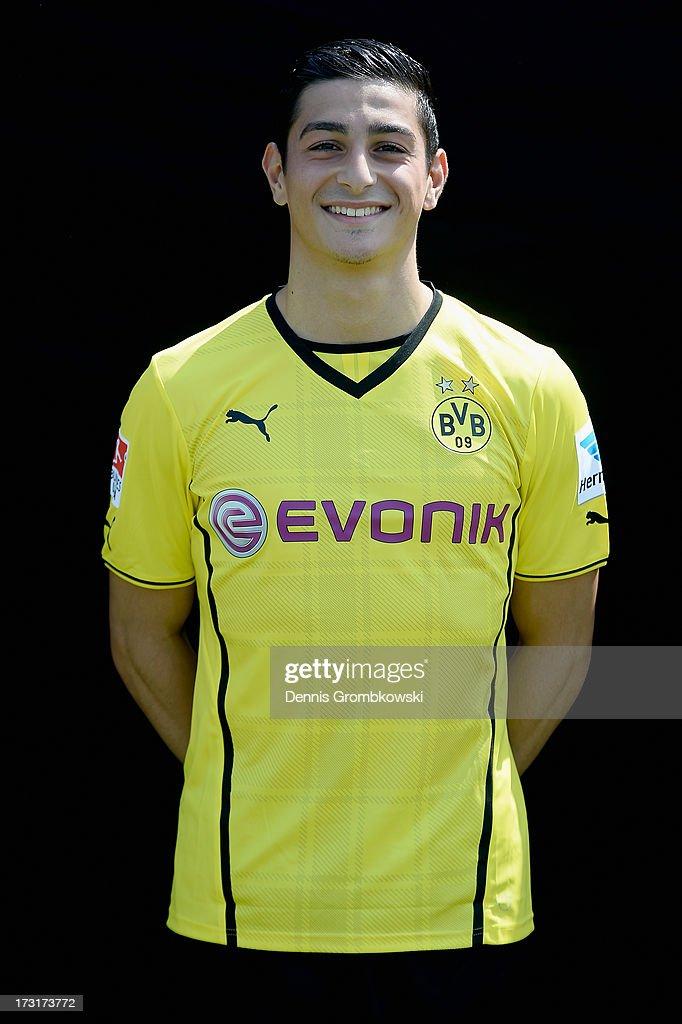 Koray Guenter poses during the Borussia Dortmund Team Presentation at Brackel Training Ground on July 9, 2013 in Dortmund, Germany.