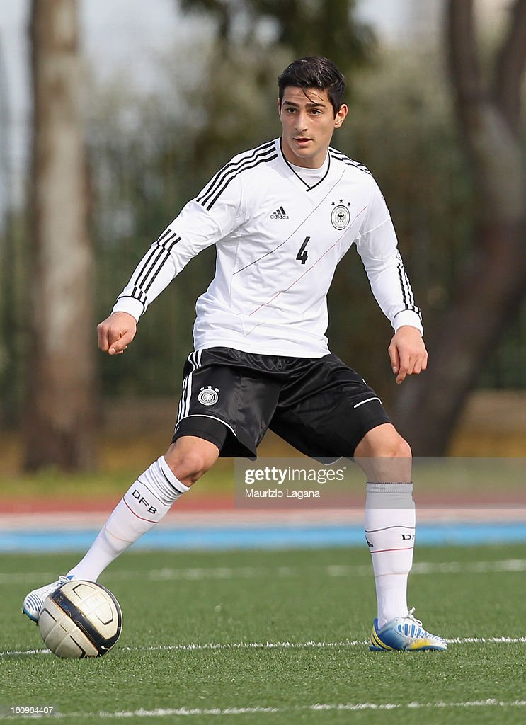 Koray Gunter of Germany during Under 19 International Friendly match between Italy and Germany at Stadio Comunale San Pio on February 6, 2013 in Santo Spirito near Bari, Italy.