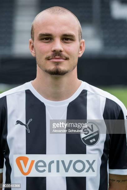 Korbinian Vollmann poses during the team presentation at on June 29 2017 in Sandhausen Germany