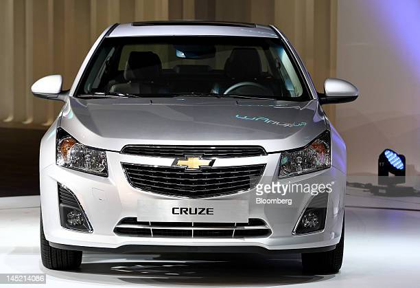 Korea Co Chevrolet cruze sedan sits on display during the media preview of the 2012 Busan International Motor Show in Busan South Korea on Thursday...