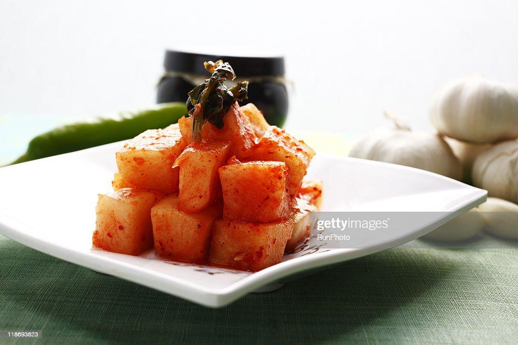 korea food,kimchi,kkakdugi : Stock Photo
