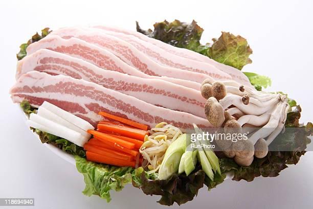 korea food,pork belly,samgyeopsal material