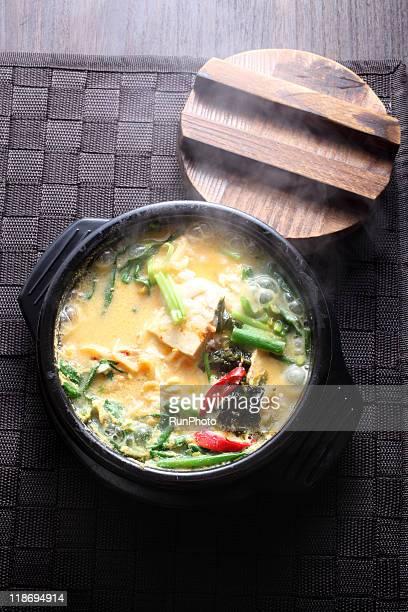 korea food,soybean-curd dregs stew