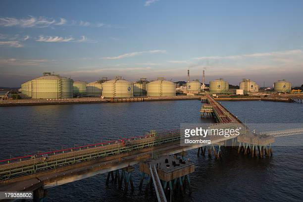 Korea Gas Corp liquefied natural gas tanks stand at the company's LNG terminal in Pyeongtaek South Korea on Monday Sept 2 2013 South Korea the worlds...