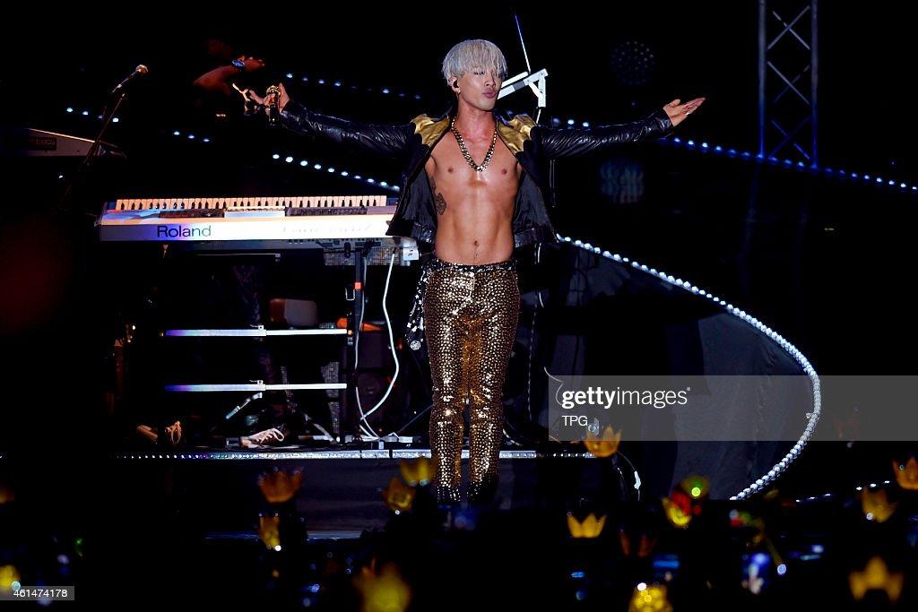 Korea group BIGBANG member Taeyang at his concert in Hongkong on 12th January 2015 in Hongkong China