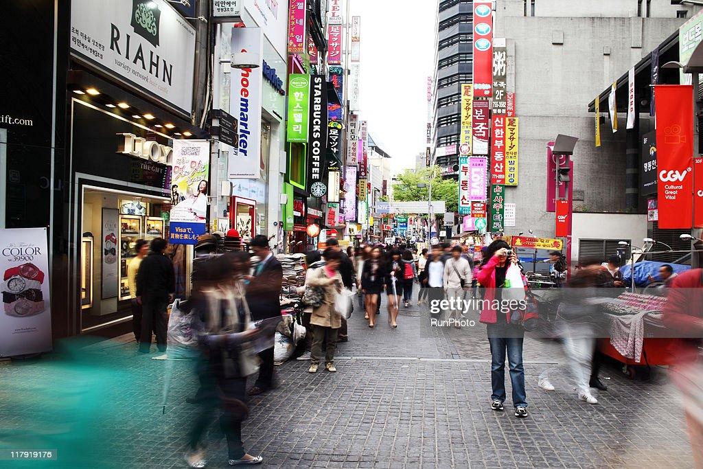 korea image,seoul,myeongdong,downtown : Stock Photo