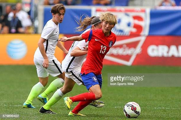 Korea Republic midfielder Kang Yumi during the second half of the game between the Korea Republic and the US Womens National Team played at Red Bull...