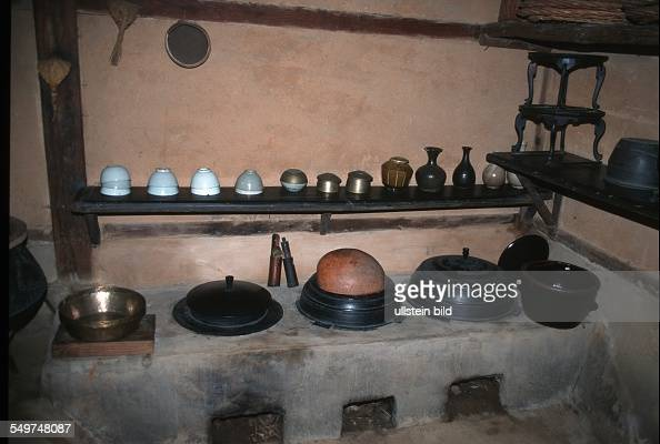 Traditional kitchen in folk village pictures getty images for Traditional korean kitchen