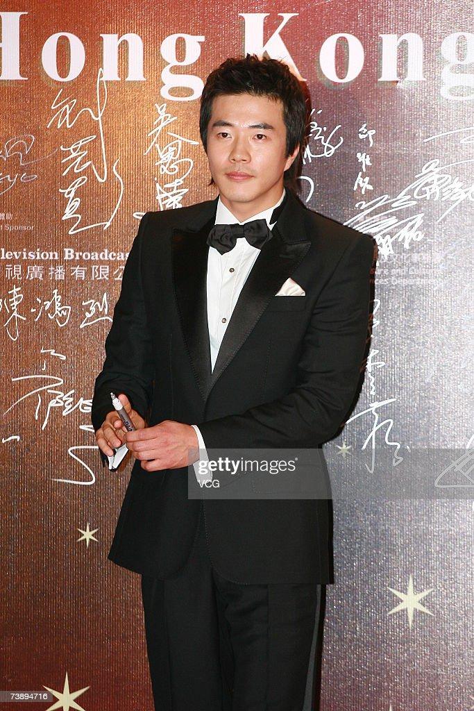 Korean actor Sang-woo Kwon arrives at the 26th Hong Kong Film Awards at the Hong Kong Cultural Centre on April 15, 2007 in Hong Kong, China.