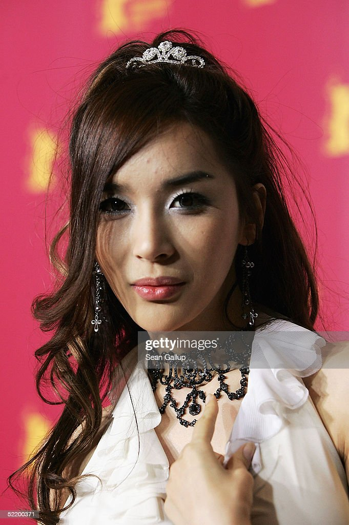 Korean actress Harisu poses at the 'Tao Se' Photocall during the 55th annual Berlinale International Film Festival on February 15 2005 in Berlin...