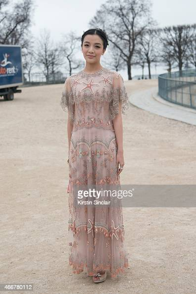 Korean actress Kitty wears all Valentino on day 8 of Paris Collections Women on March 10 2015 in Paris France