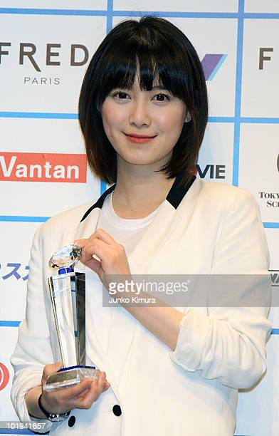 Korean actress Ku Hye Sun attends the opening ceremony for the Short Shorts Film Festival Asia at Omotesando Hills Space O on June 10 2010 in Tokyo...