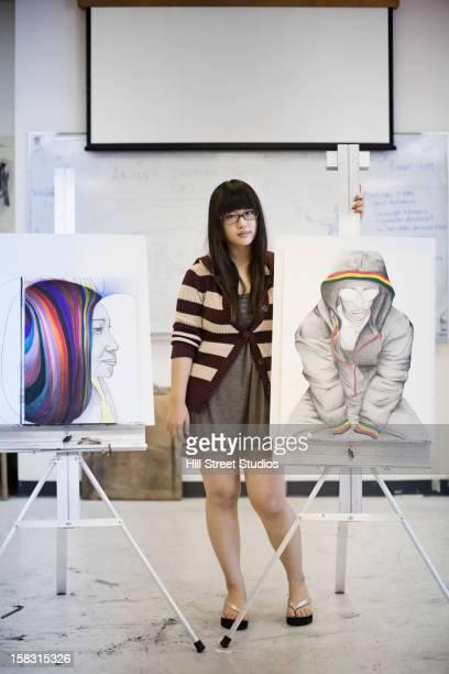 Korean artist displaying artwork