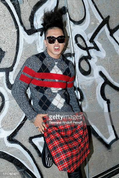 Korean artist Taeyang attends Givenchy Menswear Spring/Summer 2014 Show as part of the Paris Fashion Week held at City of Fashion and Design on June...