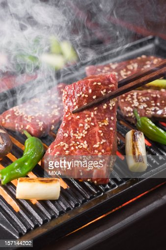 Korean Barbecue on Grill Plate