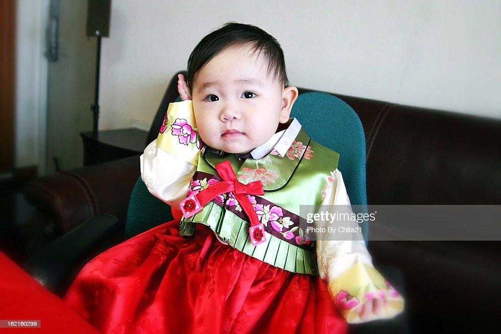Korean Clothes Baby Girl Stock