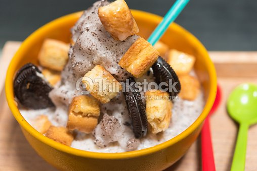 Korean Dessert Bingsu Stock Photo Thinkstock