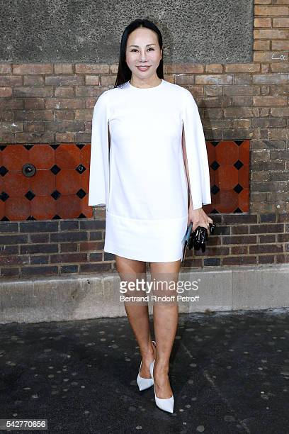 Korean Fashion Designer Eva Chow attends the Givenchy Menswear Spring/Summer 2017 show as part of Paris Fashion Week on June 24 2016 in Paris France