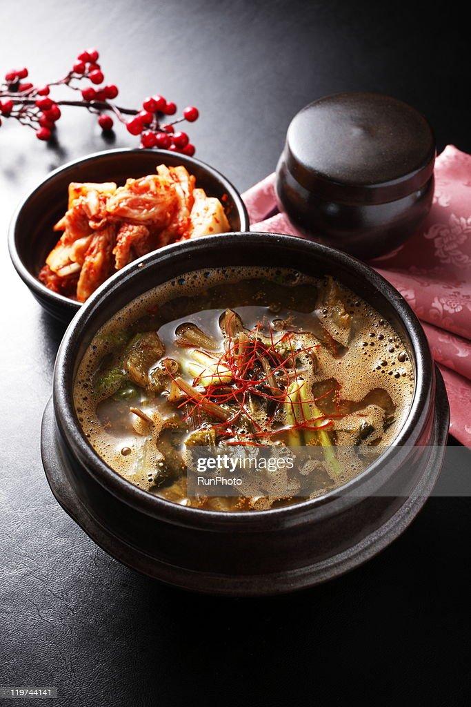 korean food,outer leaves,