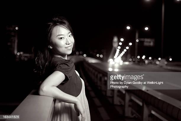 Korean girl on Han River Bridge