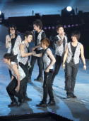 Korean group Super Junior hold concert at Shanghai Grand Stage on March 6 2010 in Shanghai of China