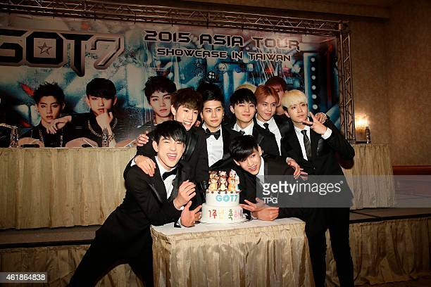 Korean idol group Got7 at Showcase press conference on 19th January 2015 in Taipei Taiwan China