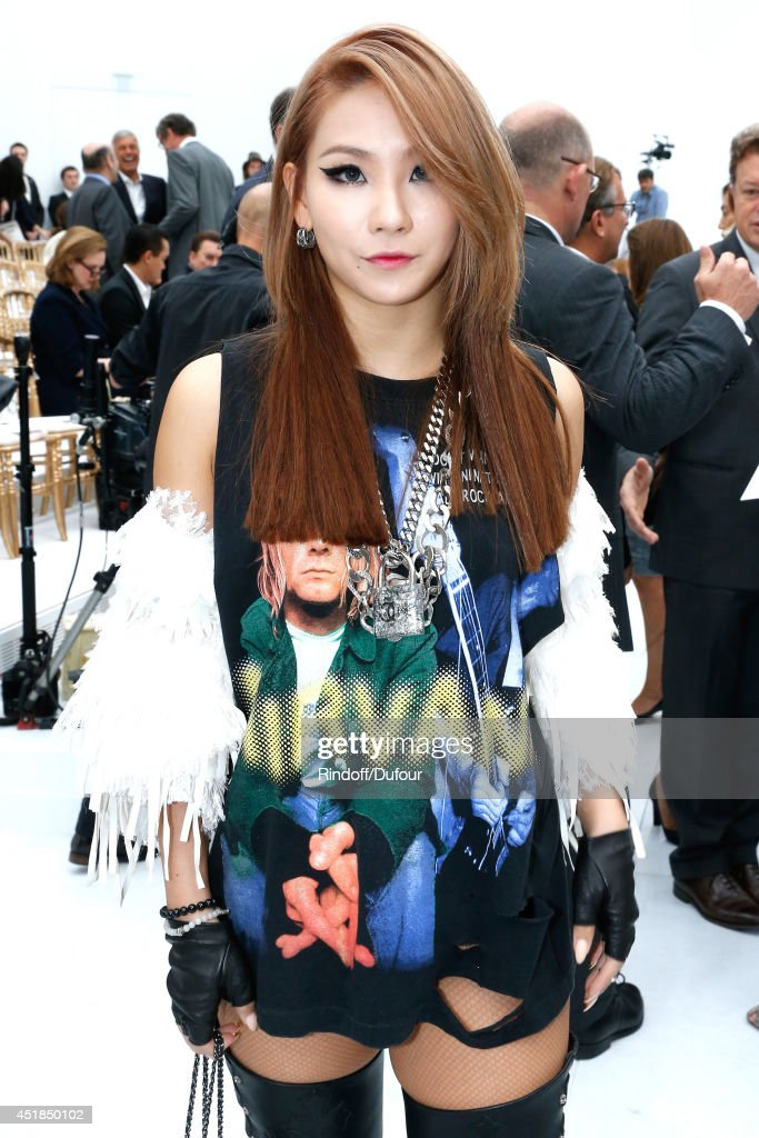 Korean K-Pop singer CL attends the Chanel show as part of Paris Fashion Week - Haute Couture Fall/Winter 2014-2015. Held at Grand Palais on July 8, 2014 in Paris, France.