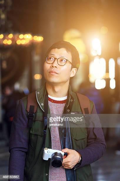 Korean Man in Hagia Sophia