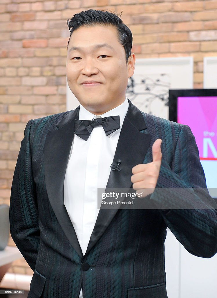 Korean rap sensation Psy appears on the Marilyn Denis Show on October 30, 2012 in Toronto, Canada.