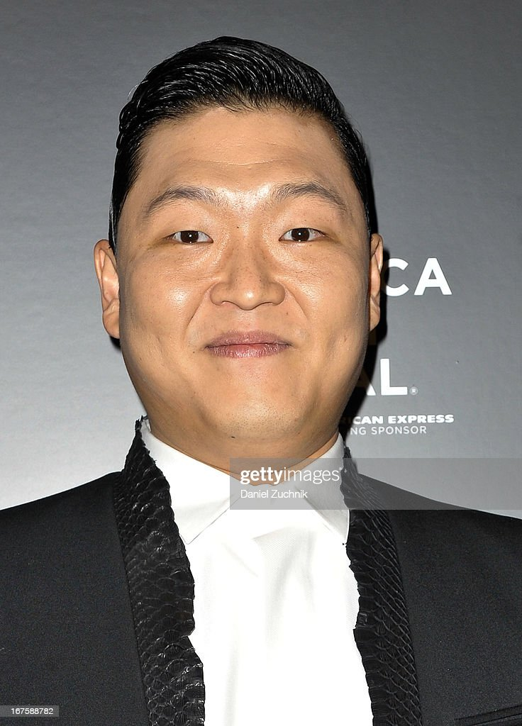 Korean rapper Psy attends the 4th annual Tribeca Disruptive Innovation Awards during the 2013 Tribeca Film Festival at NYU Paulson Auditorium on April 26, 2013 in New York City.