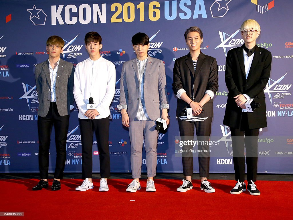 Korean rock band Day6 attends KCON 2016 Day 2 at the Prudential Center on June 25, 2016 in Newark, New Jersey.