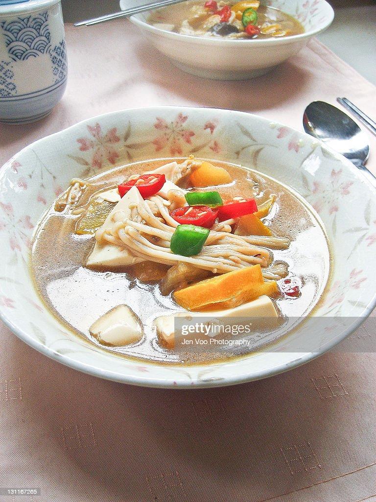 Korean soybean paste stew : Stock Photo