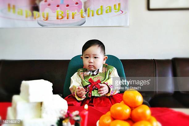 Korean traditional first birthday party