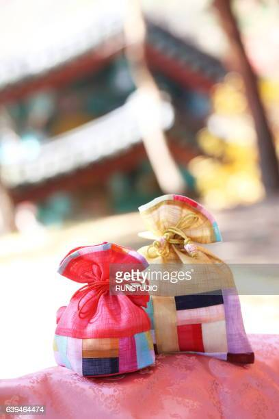 Korean traditional New Year's image, a lucky bag