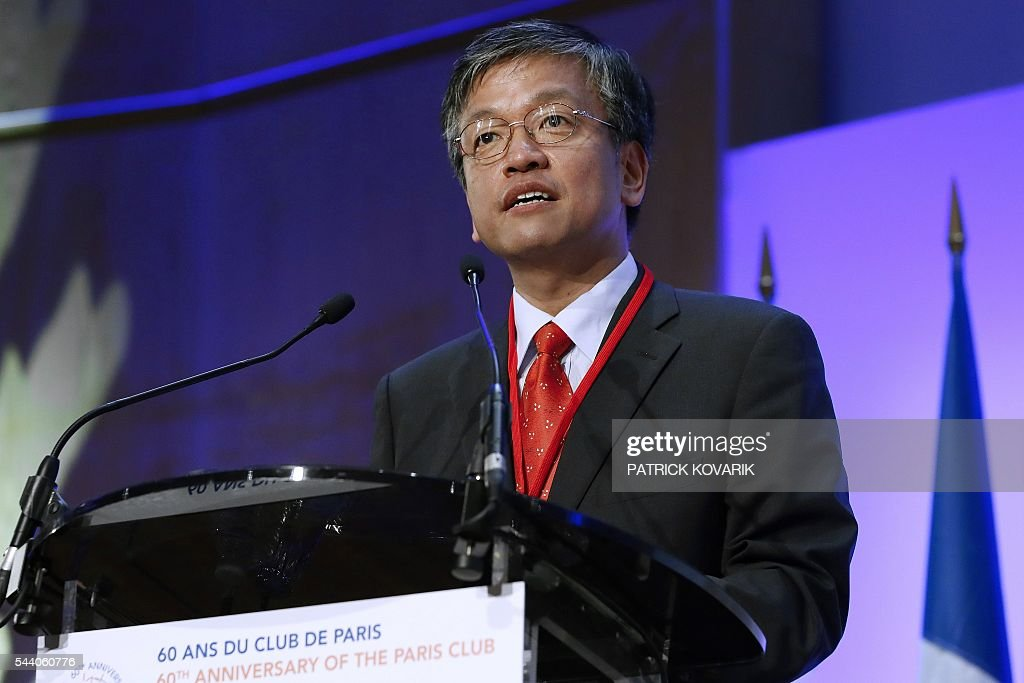 Korean vice-minister of strategy and finance Sang Mok Choi delivers a speech during the 60th anniversary of the Paris Club, on July 1, 2016 in Paris. KOVARIK