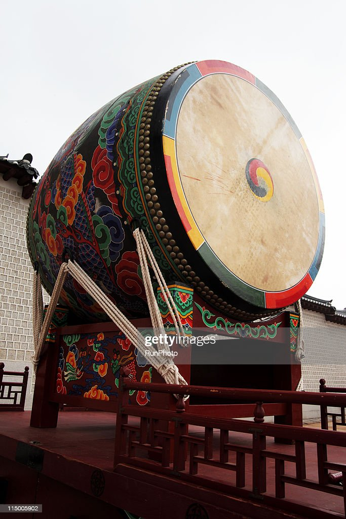 korea,royal palace,giant drum