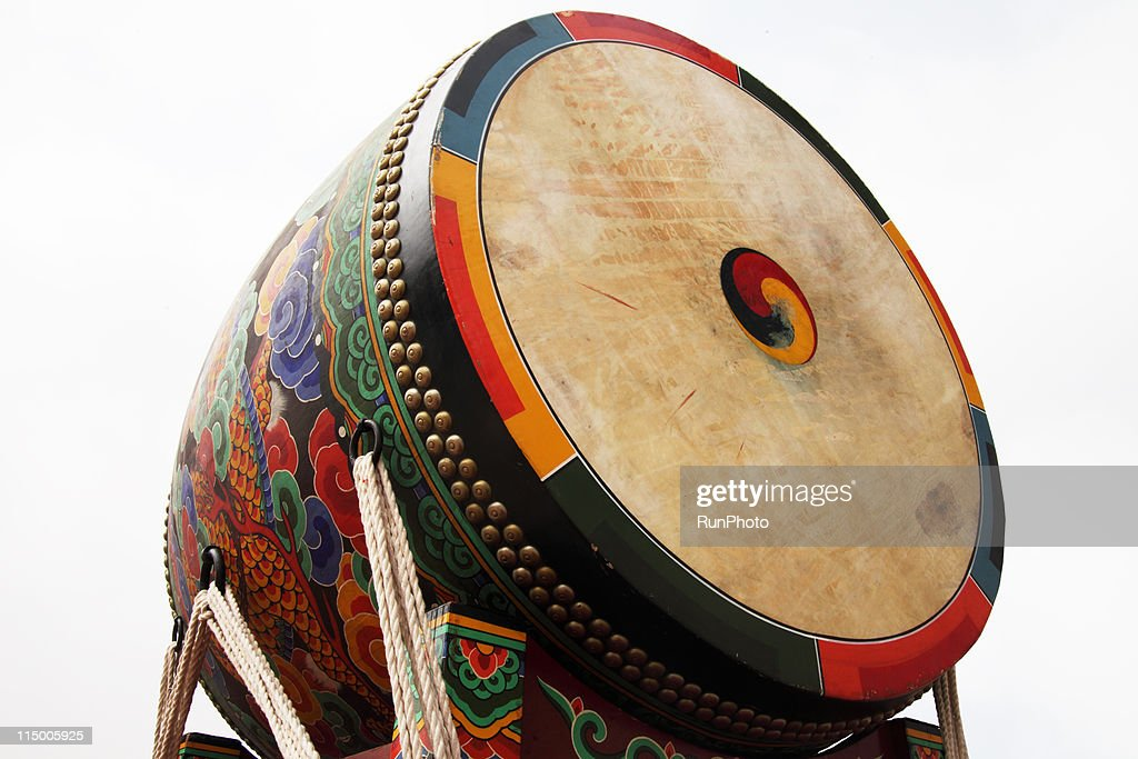 korea,royal palace,old giant drum
