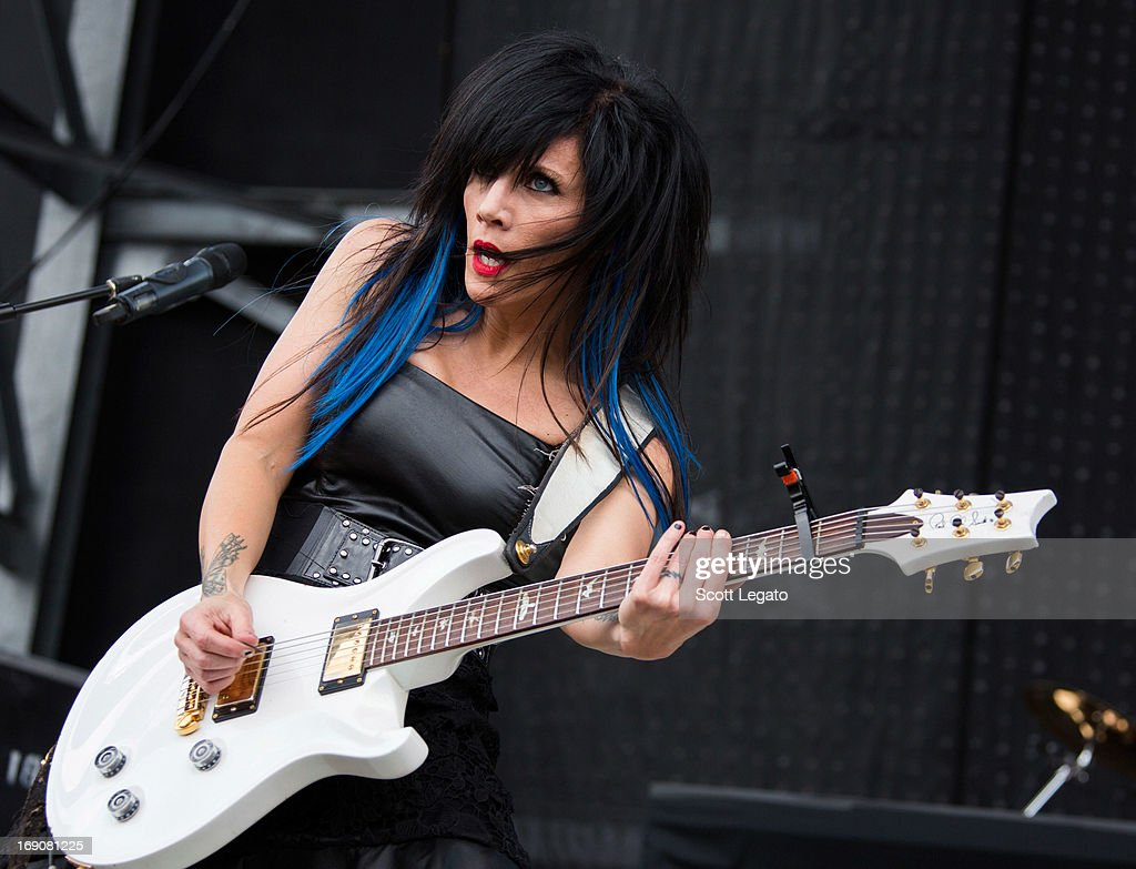 Korey Cooper of Skillet performs during 2013 Rock On The Range at Columbus Crew Stadium on May 19 2013 in Columbus Ohio