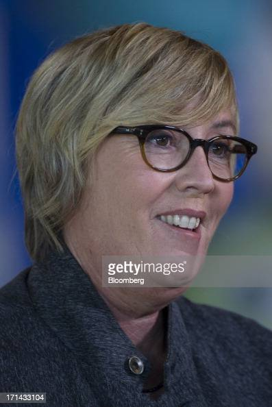 Kori Rae producer of the Pixar movie 'Monsters University' speaks during a Bloomberg West Television interview at the Pixar Animation Studios...