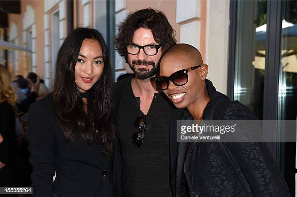 Korlan Madi Gale Harold and Deborah Dyer aka Skin attend press conference of 'ANDRON THE BLACK LABYRINTH' by AMBI Pictures at Casa del Cinema on...