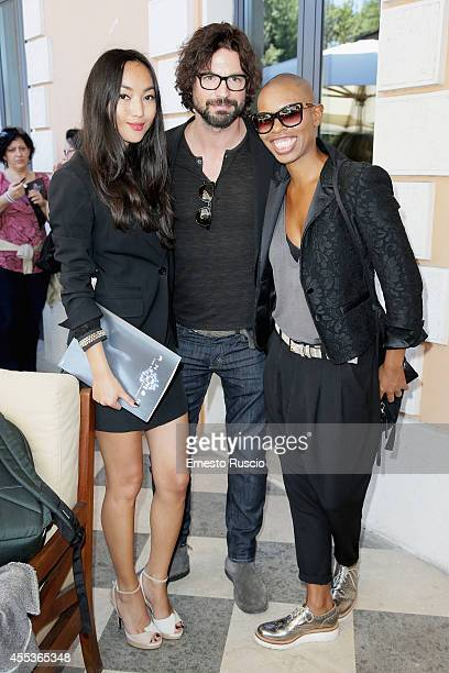 Korlan Madi Gale Harold and singer Skin attend the 'Andron The Black Labyrinth' Photocall at La Casa Del Cinema on September 13 2014 in Rome Italy