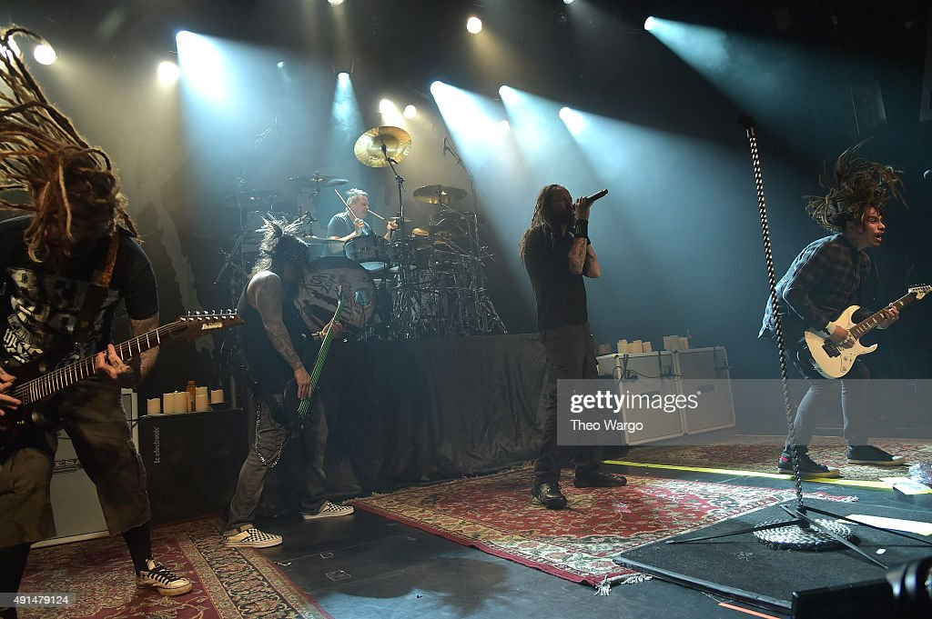 Korn perform during The Korn 20th Anniversary Tour at Irving Plaza on October 5, 2015 in New York City.