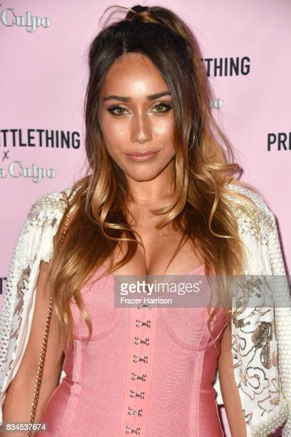 Korrina Rico attends PrettyLittleThing X Olivia Culpo Launch at Liaison Lounge on August 17 2017 in Los Angeles California
