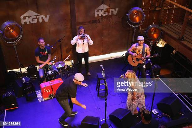Kortney Wilson and Dave Wilson of HGTV's Masters of Flip speak onstage at the HGTV Lodge during CMA Music Fest on June 11 2017 in Nashville Tennessee