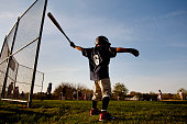 Kory Rolbiecki of Windham takes a swing in the on deck circle before his first at bat in his first Little League game of the year Thursday May 7 2015...